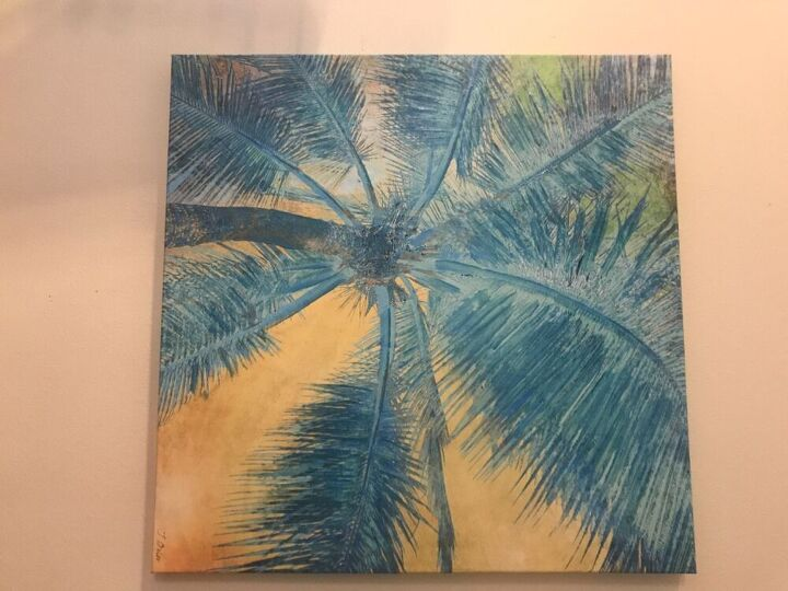 q is it possible to white wash an acrylic painted canvas