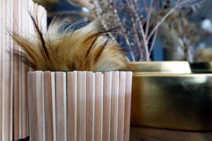 easy dollar store diy decor wood dowel vases