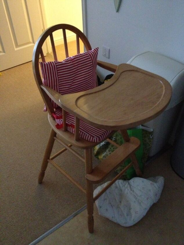 painted highchair refresh