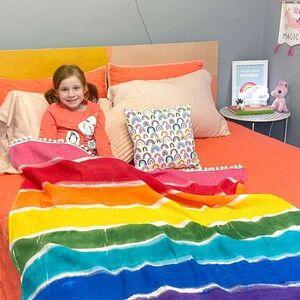 DIY Rainbow Blanket
