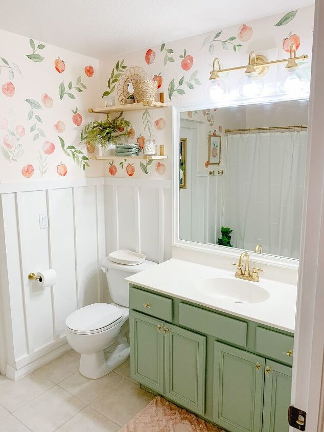 peachy clean bathroom makeover