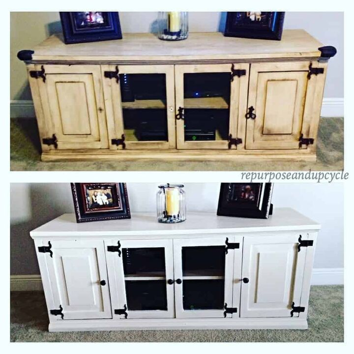 moody eclectic tv stand makeover with cane webbing