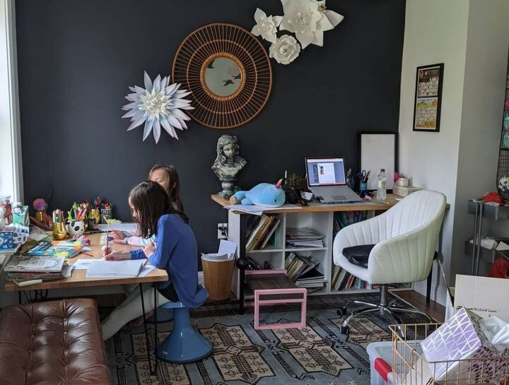 create a home office accent wall to uplevel your zoom calls