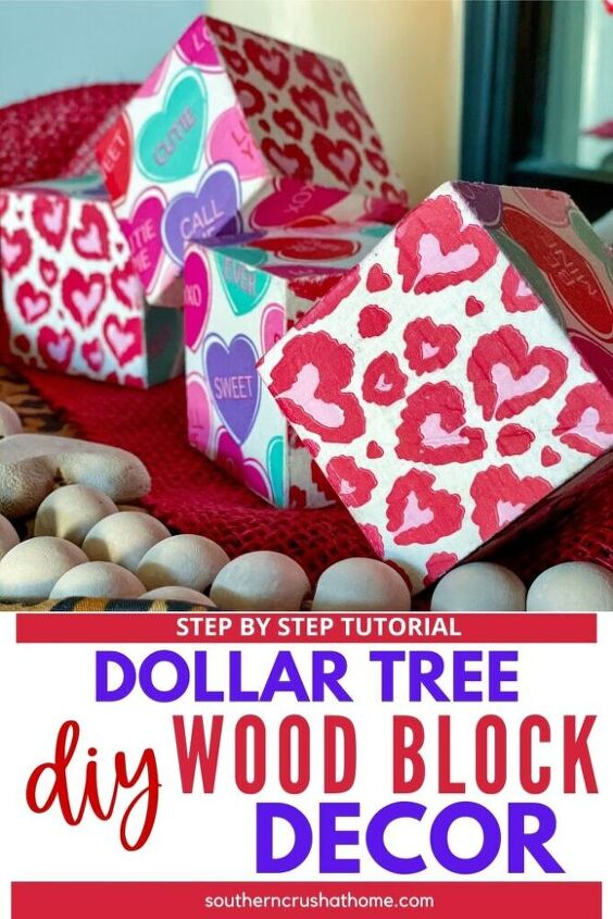 diy wood block decor