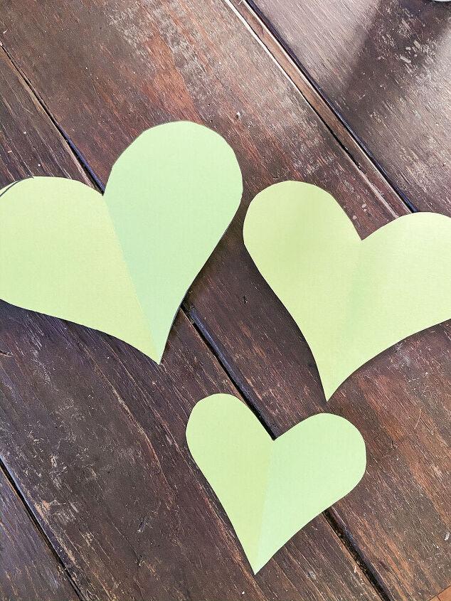 diy wooden triple heart swag