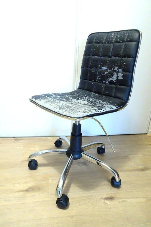velvet desk chair makeover