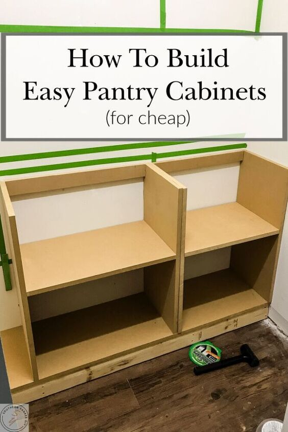 how to build diy pantry cabinets part 1