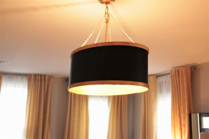 make your own drum shade chandelier diy tutorial