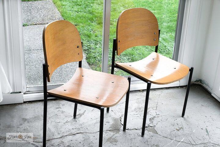 how to achieve a decadent woodgrain grain sack stripe to furniture