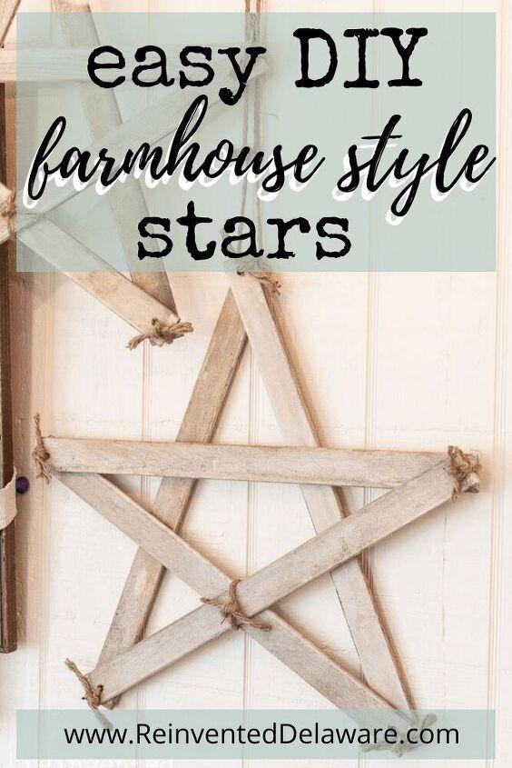 farmhouse style stars easy diy