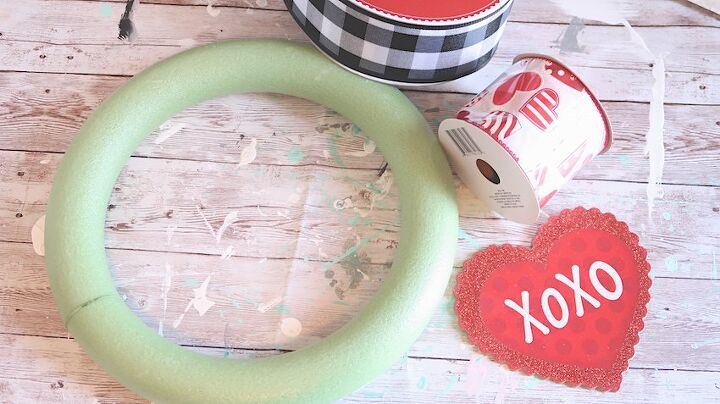 diy valentines day wreath door hanger ideas using items on hand