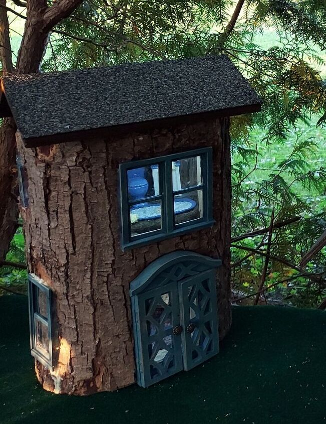 hollow tree fairy house diy