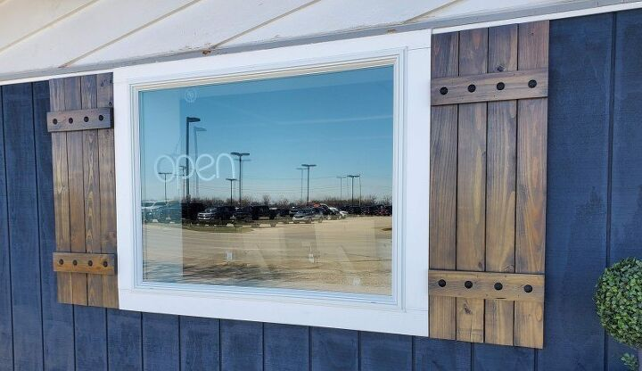 how to make easy diy board and batten shutters