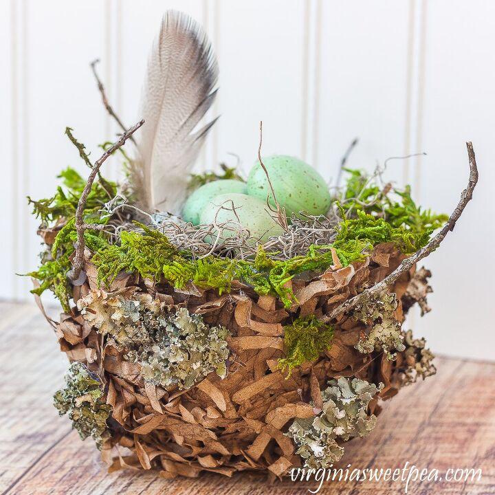 diy shredded paper nest