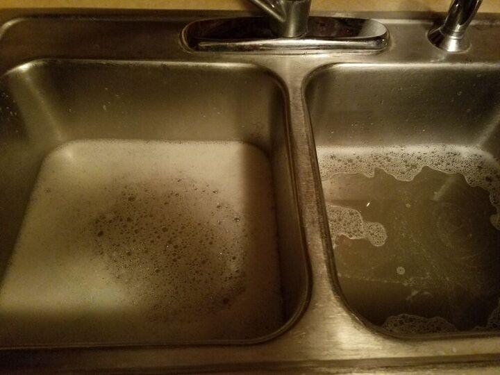 q clogged kitchen sink