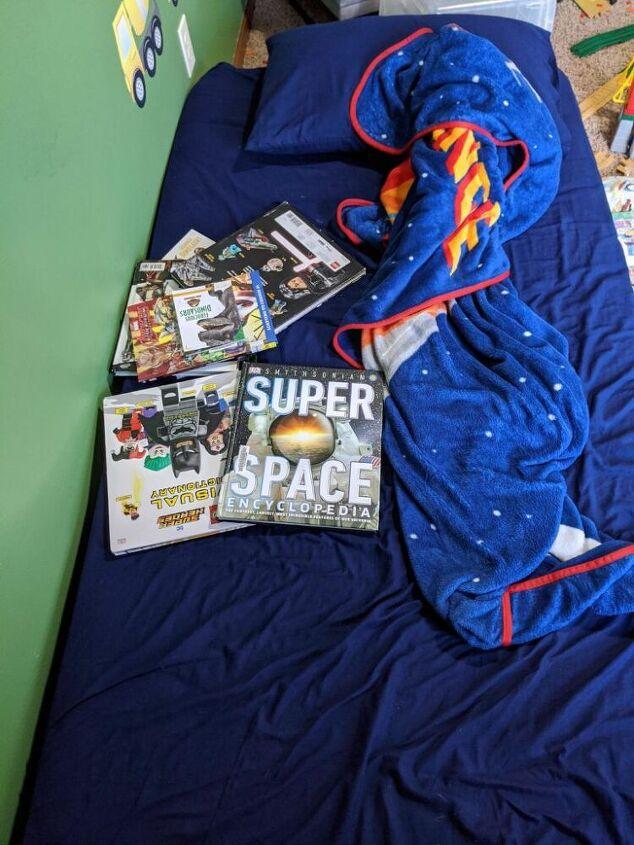 easy diy bedside storage solution for children s room