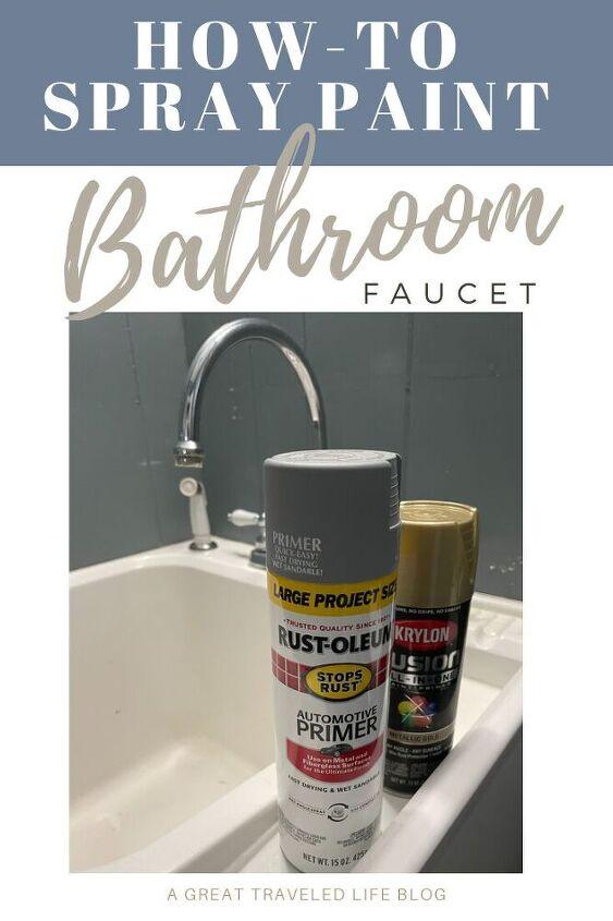 how to spray paint a bathroom faucet