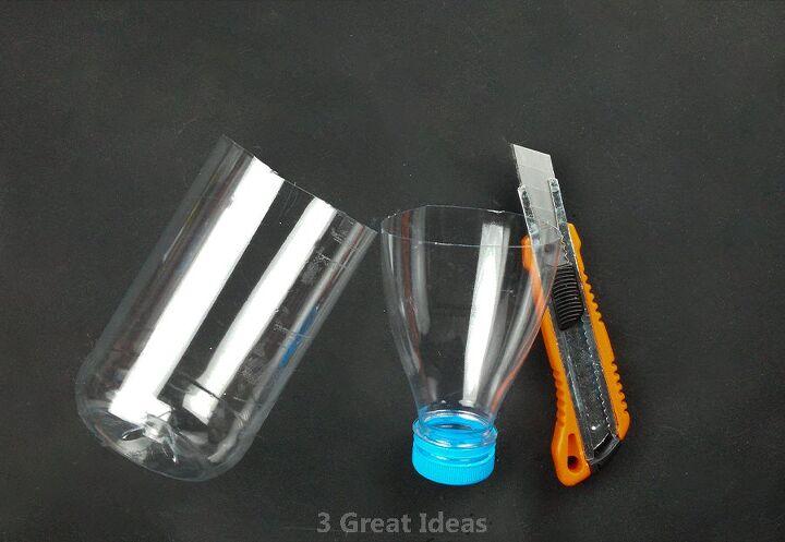 diy pen holder with plastic bottle