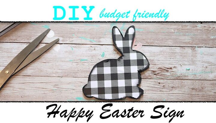 diy happy easter sign wall decor