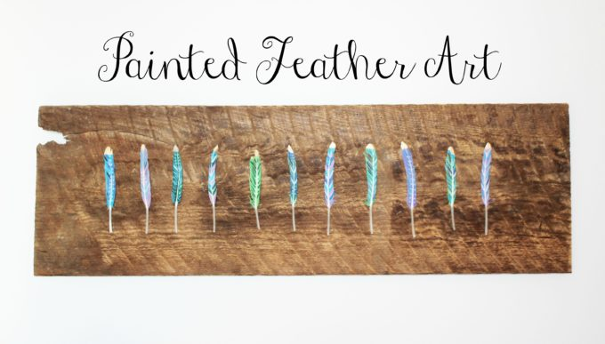d i y painted feather art