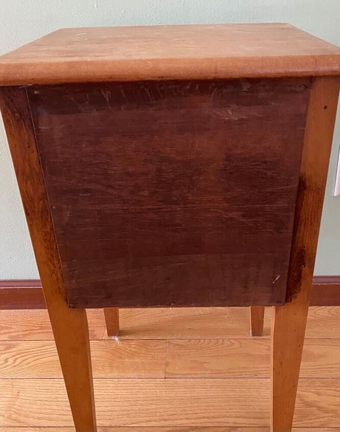 q how to make the back of an end table look nice
