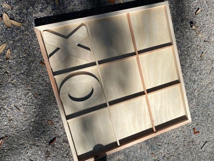 wood frame tic tac toe
