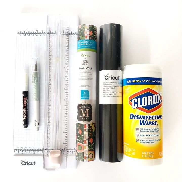disinfectant wipe bottle upcycle for craft storage