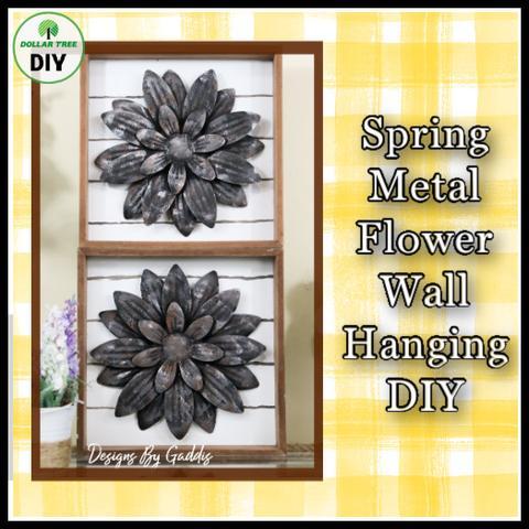spring metal flower wall hanging