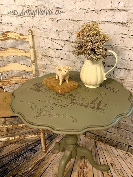 tilt top table makeover