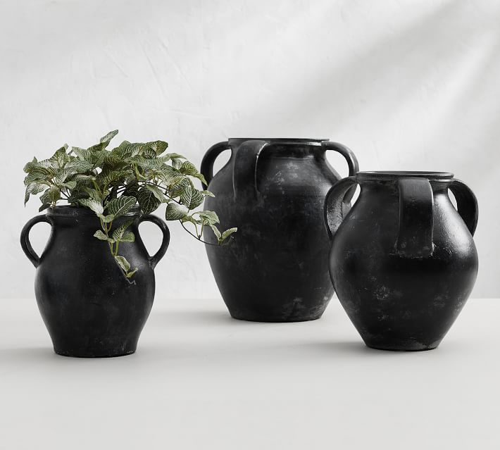 s 10 stunning ways to make a cheap glass vase look so high end, Burnish it with black paint and baking soda