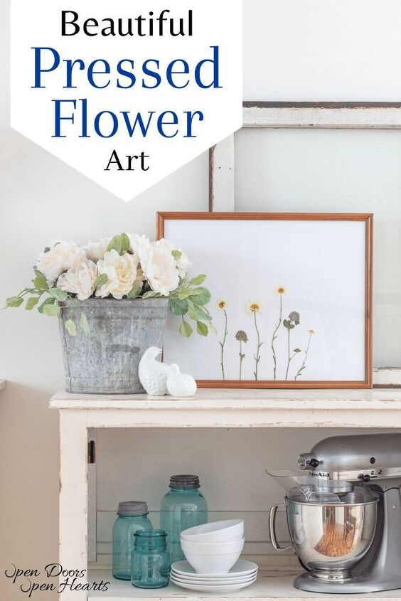 pressed flower art beautiful decor with a vintage feel