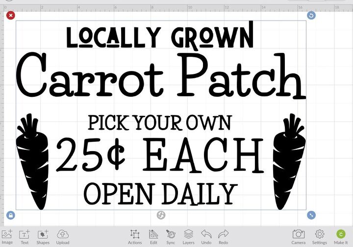 carrot patch sign