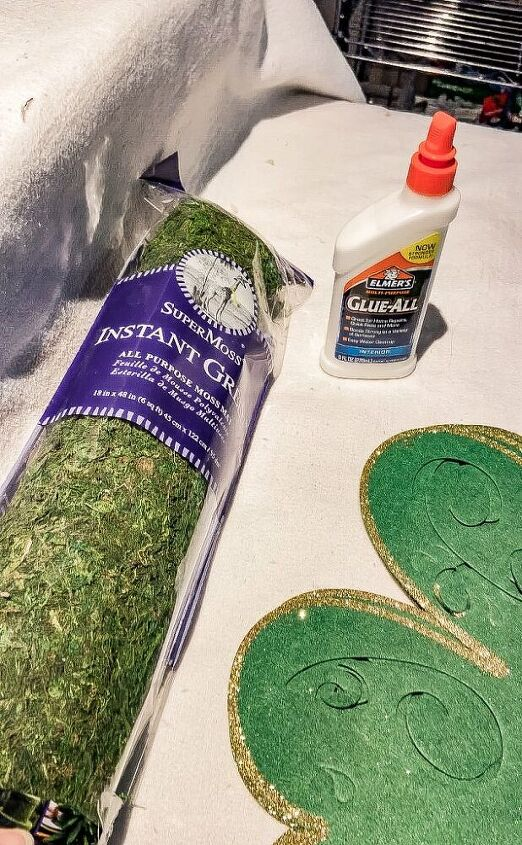 how to make moss shamrock placemats