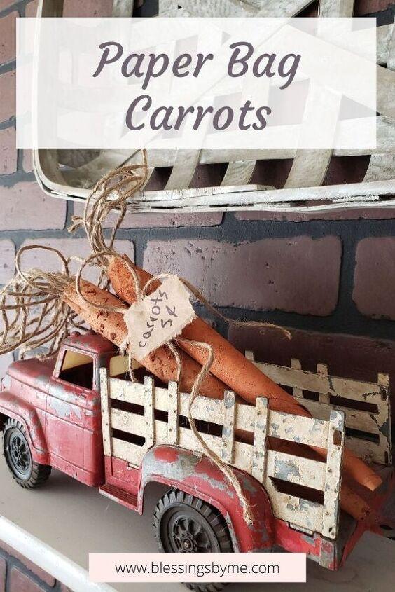 paper bag carrots diy