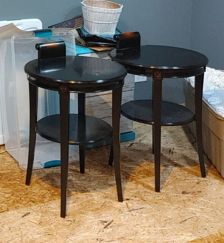 end tables to painted night stands