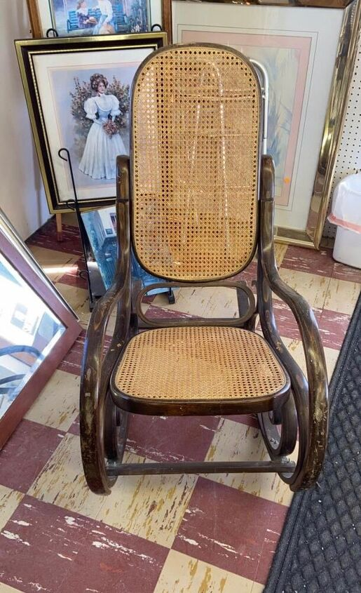 paint cane furniture without painting the cane