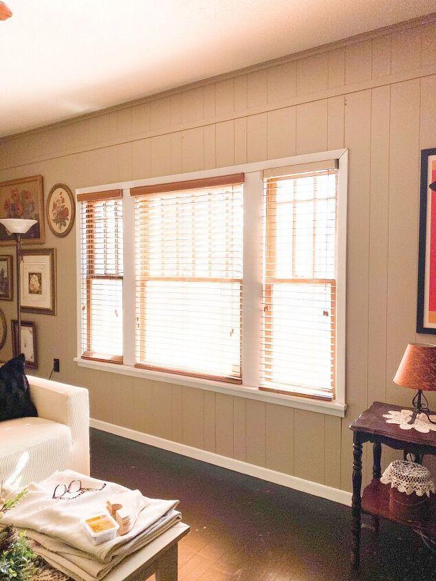 diy curtain rod and curtains farmhouse style