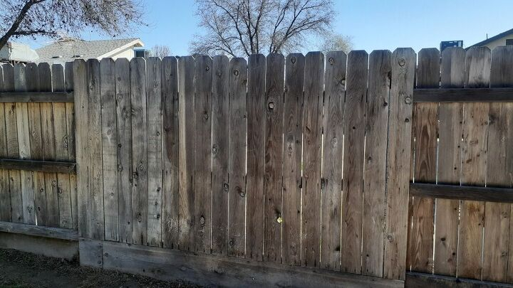 q how do i clean my wood fence