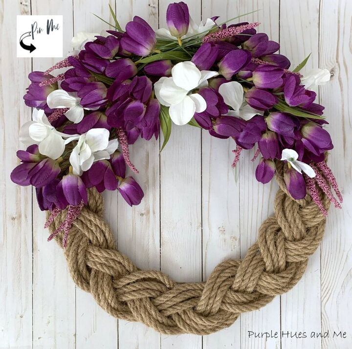 braided rope spring wreath
