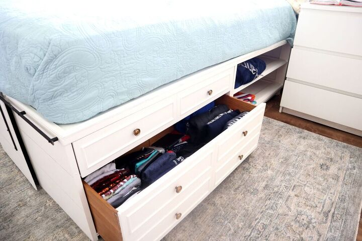 diy storage bed with drawers almost for free