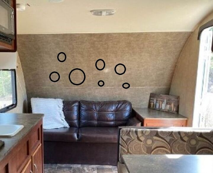 q how to mount some round mirrors on a concave wall in trailer