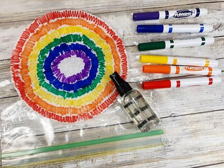 watercolor coffee filter rainbows