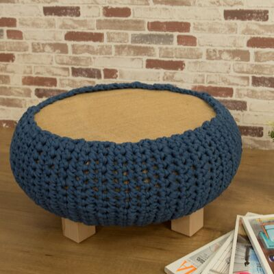 how to make a round stool with a wheel