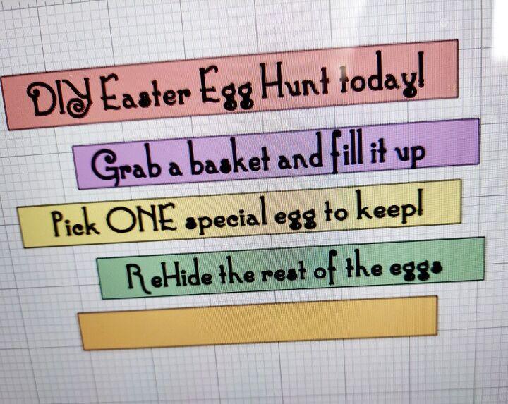 diy easter egg hunt with signs, Choose wording
