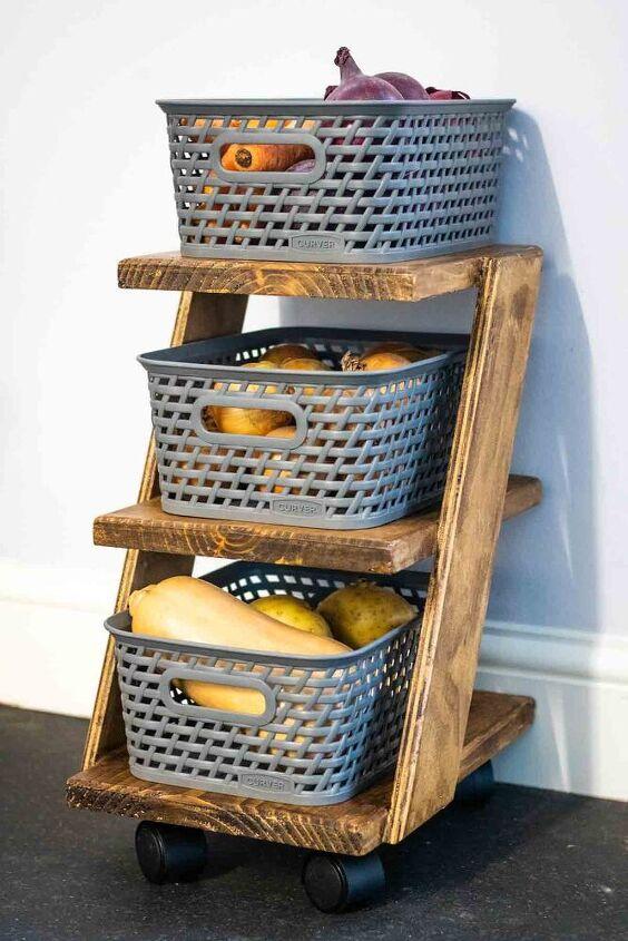 diy z shelf 3 tier trolley for 4l basket storage
