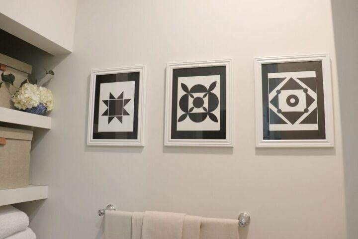 black and white diy art