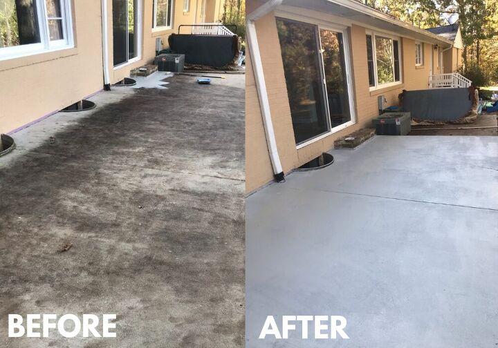 concrete patio facelift