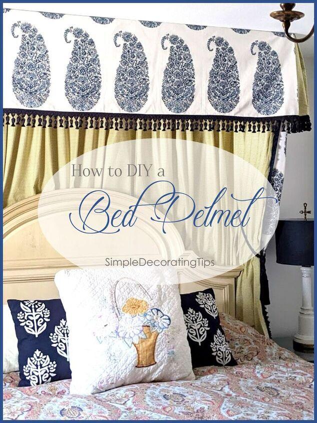 how to diy a bed pelmet