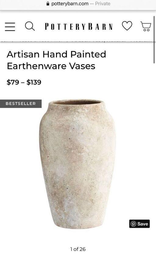 diy faux pottery vase