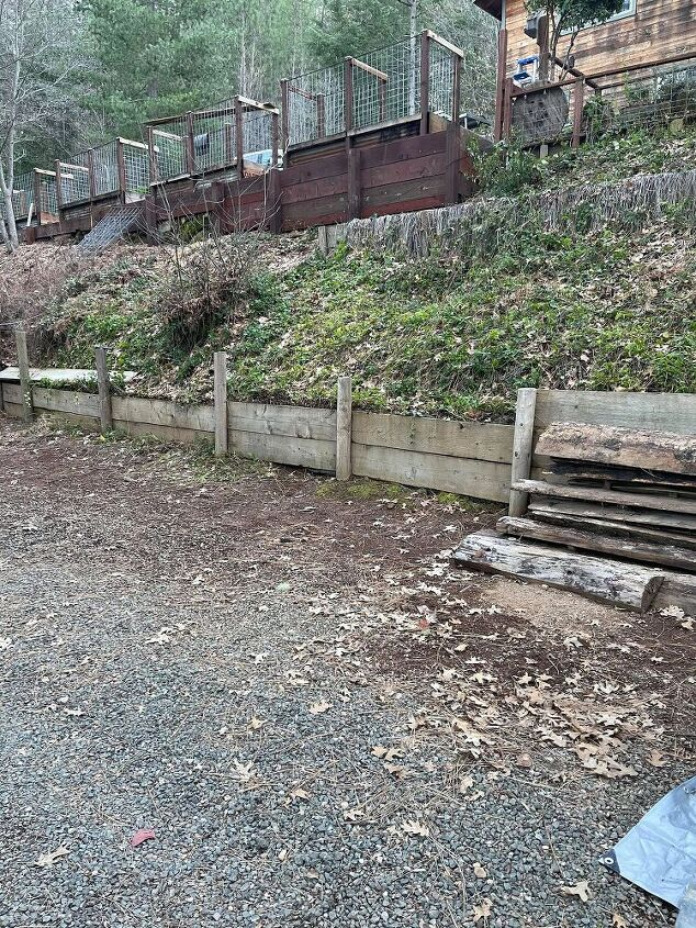 steel and wood retaining wall